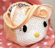 Haak zelf een leuk Hello Kitty tasje. Uitgebreid haakpatroon!