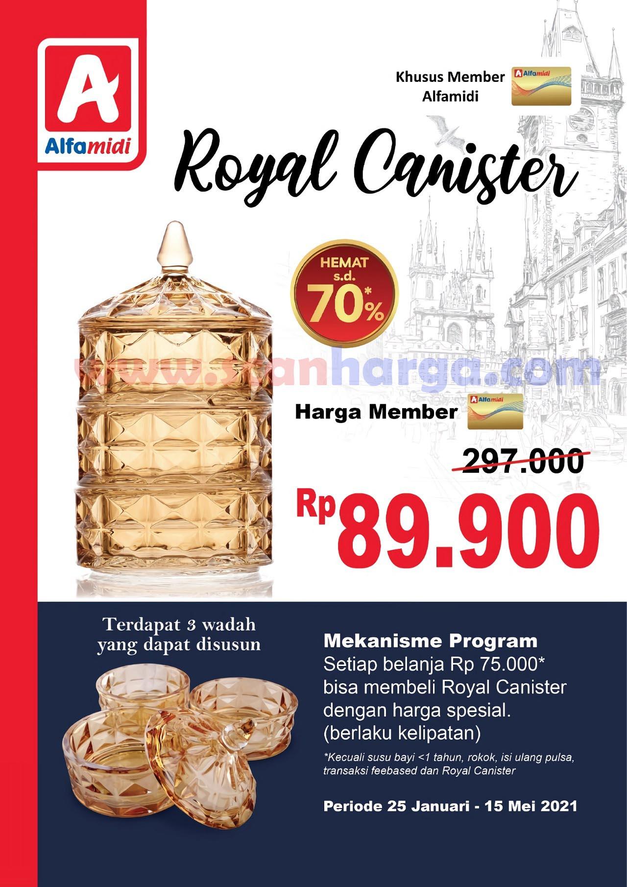 ALFAMIDI Promo ROYAL CANISTER! Harga Spesial hanya Rp 89.900