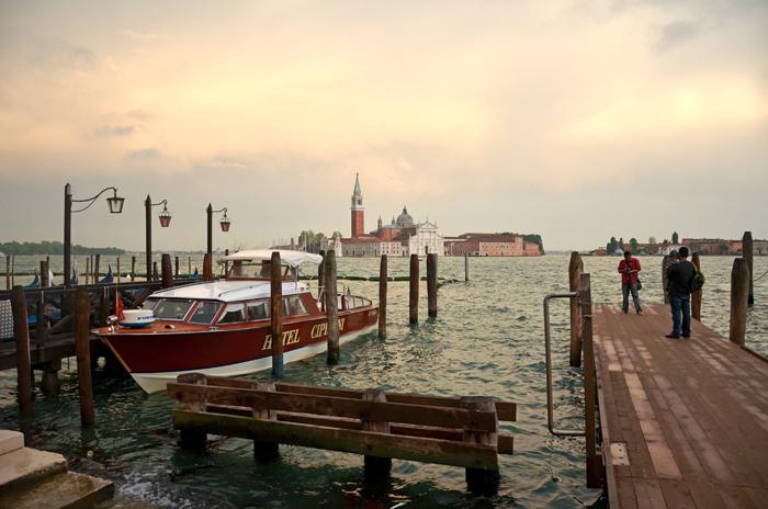 Vu du ponton à Venise