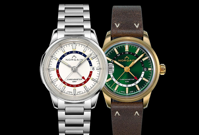 Norqain Freedom 60 GMT Opaline and Forest Green