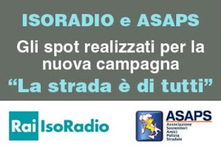 Sicurezza stradale - Spot radiofonici scritti da Asaps in onda su Isoradio