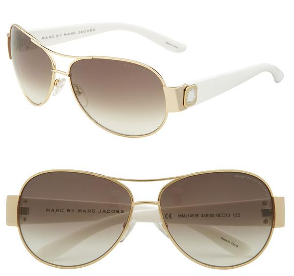 2b06342c7833e Maggie Beauty Shop  MARC BY MARC JACOBS Oculos de Sol aviador Branco ...