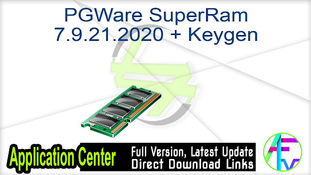 PGWare SuperRam 7.9.21.2020 + Keygen