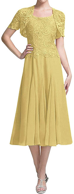 Gold Mother of The Groom Dresses