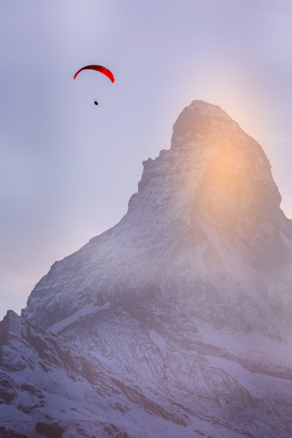 Vuelo Parapente en Montaña desde el Cervino