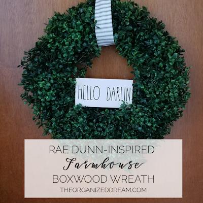 Rae Dunn-Inspired Boxwood Wreath