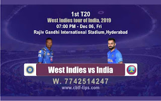 Ind vs WI T20 Prediction 1st Match Prediction Today Reports   CBTF