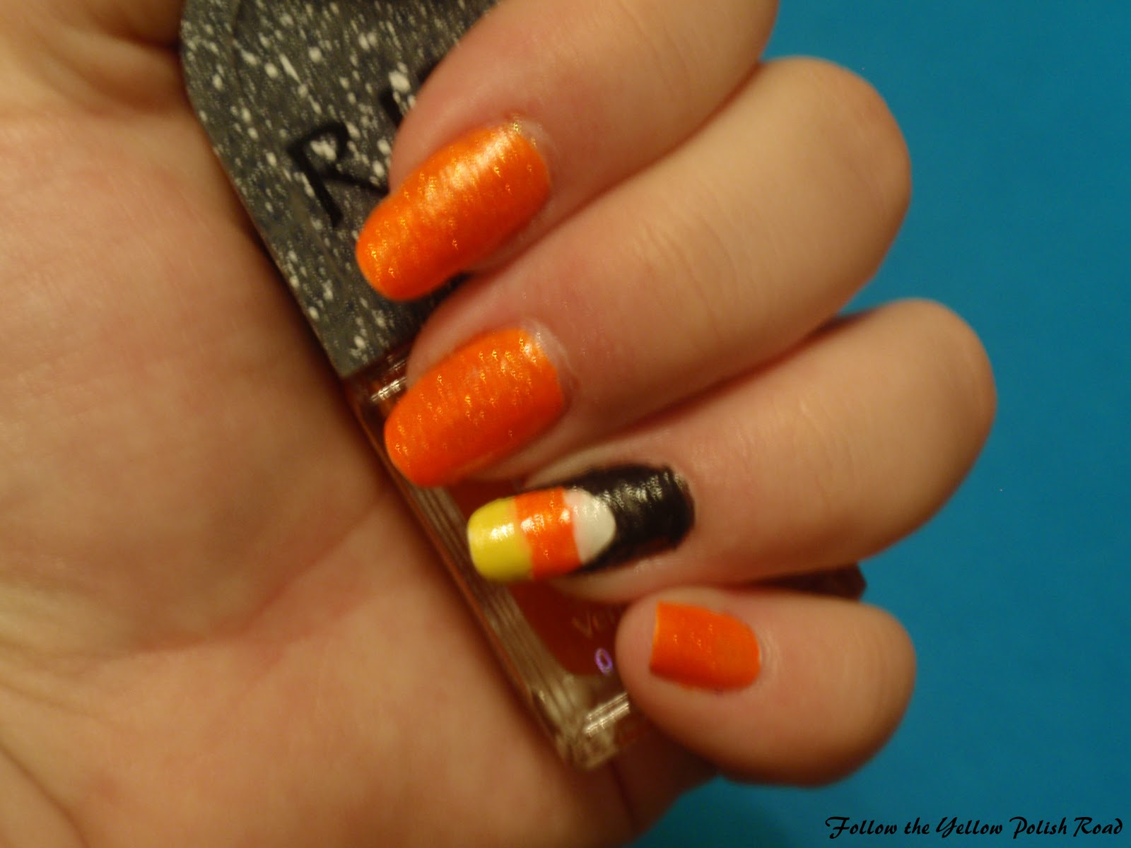 Follow The Yellow Polish Road Candy Corn Nails Polish Haul Amp Nail Mail
