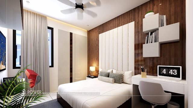 Bedroom interior rendering services