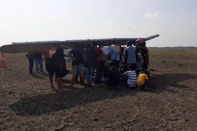 Chaerul Hadir Dengan Pesawat Ultralight