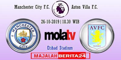 Prediksi Manchester City vs Aston Villa — 26 Oktober 2019