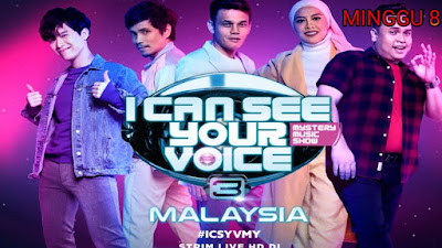 Live Streaming I Can See Your Voice Malaysia 2020 Minggu 8