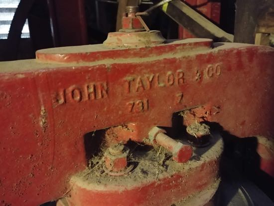 The name of the company - John Taylor & Co - responsible for the 1985 refurbishment Image by the North Mymms History Project released under Creative Commons BY-NC-SA 4.0