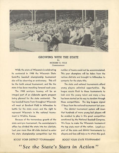 Borchert Field 1948 Semi-pro Tournament Flyer