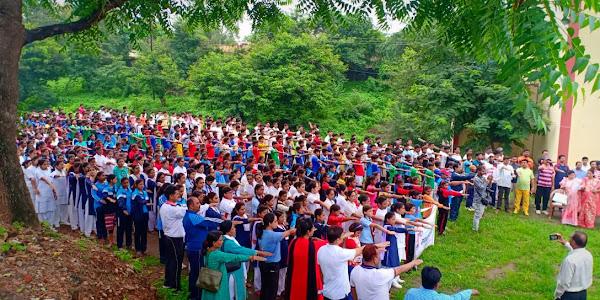 राजवाडा से कलेक्टर कार्यालय खेल परिसर तक सद्भावना दौड़ का हुआ आयोजन