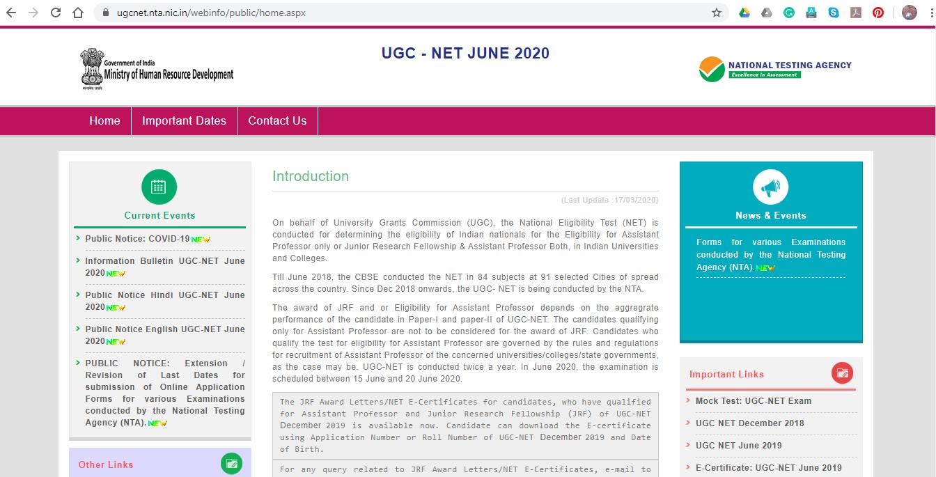 NTA UGC NET WEBSITE