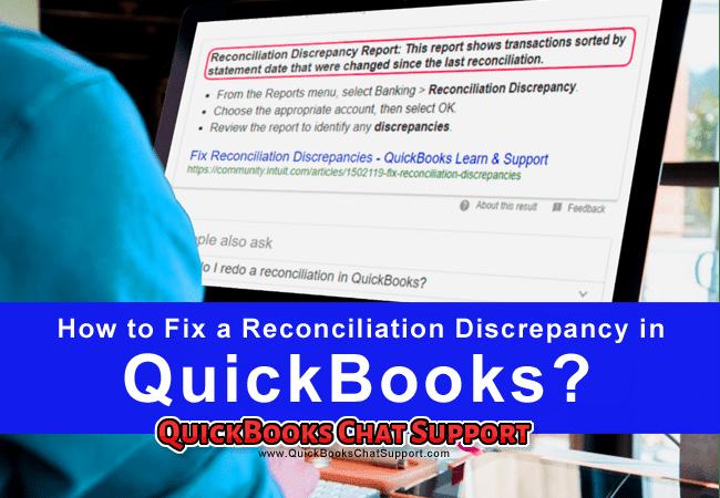 Fix a Reconciliation Discrepancy in QuickBooks