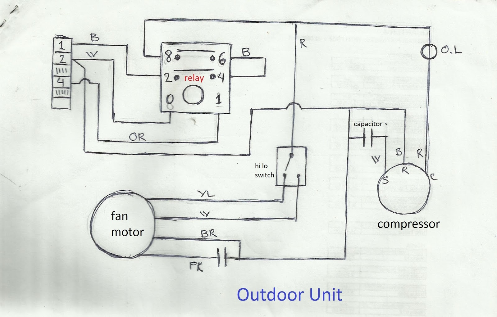 Air Conditioner Fan Wiring Diagram Library Ac Motor Capacitor Condenser Schematic Reveolution Of U2022 Rh Jivehype Co