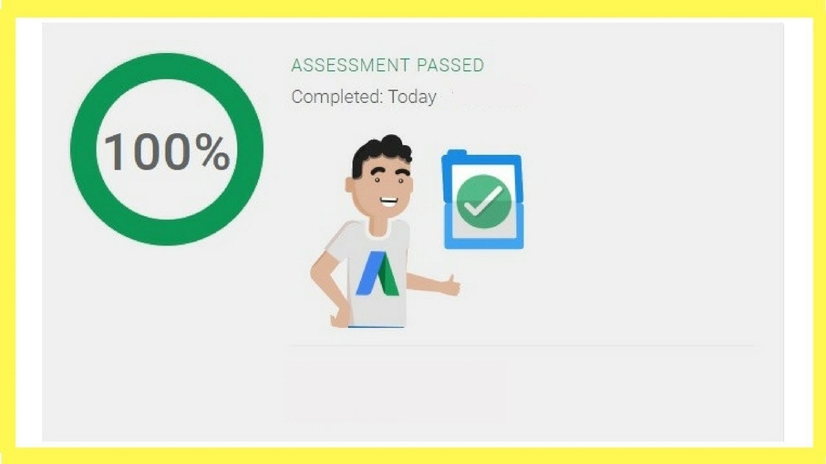 Google Ads Search Certification Exam Results