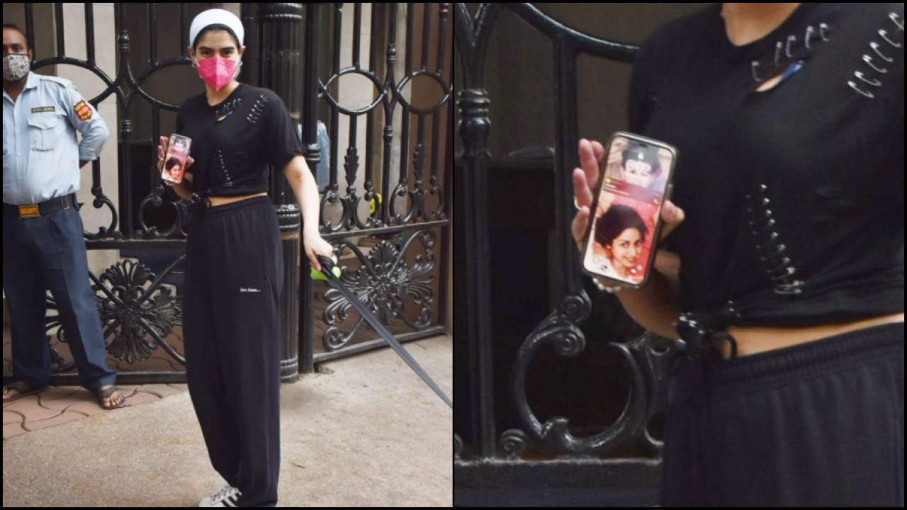 Pic of the day: Khushi Kapoor spotted together with her pooch, but her phone wallpaper steals the show