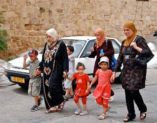 Muslim Women Children Akko Acre Israel