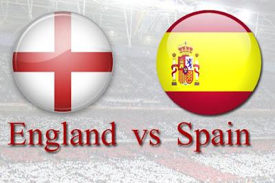 مباراة إنجلترا واسبانيا بث مباشر