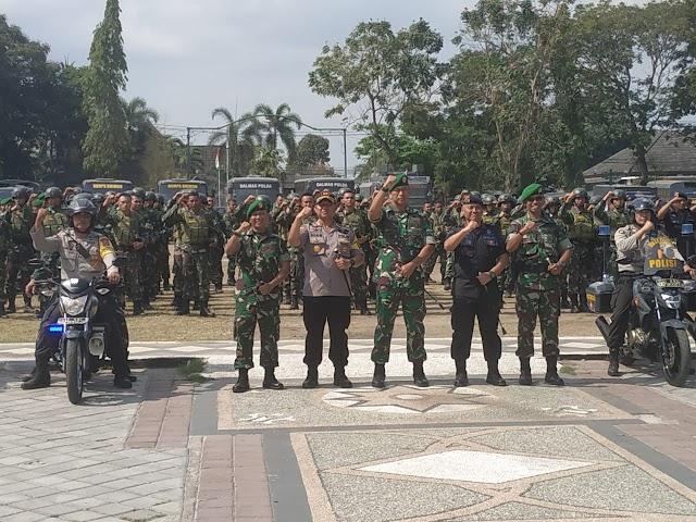 TNI Polri di NTB Gelar Apel Gabungan Siap Amankan Pelantikan Presiden dan Wapres