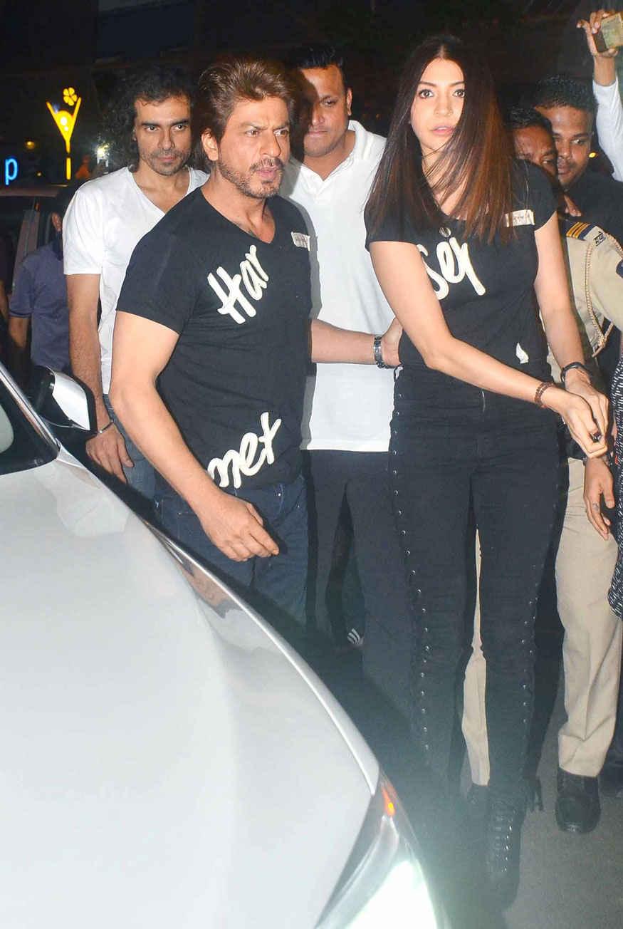 ShahRukh Khan and Anushka Sharma at Khar Social In Khar West, Mumbai.