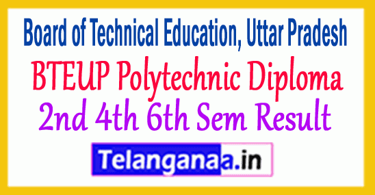 BTEUP Polytechnic Diploma 2nd 4th 6th Semester Result