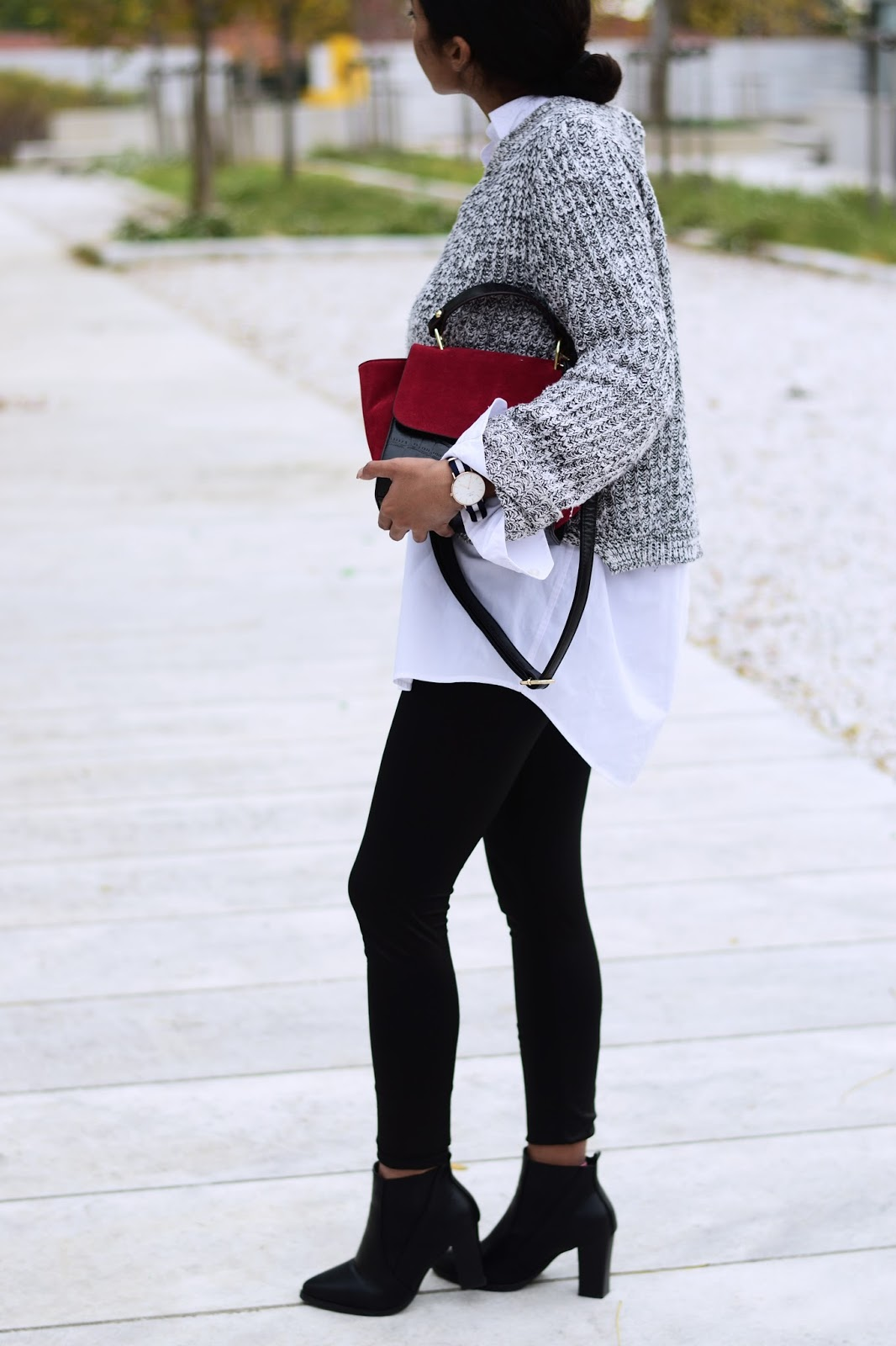 how to wear ankle boots with leggings outfit ideas