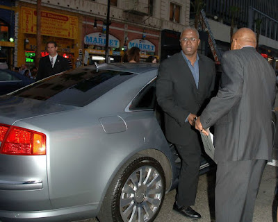 Ami Brabson's husband coming out his car
