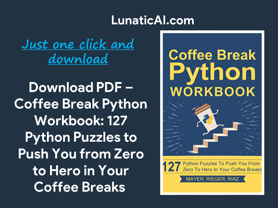 Coffee Break Python Workbook PDF Free Download