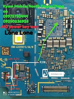 How to Samsung Galaxy A10 A105F Power Key Ways Volume Button Jumper