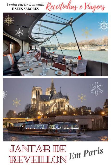 Onde passar noite de Réveillon em Paris cruzeiro pelo Sena