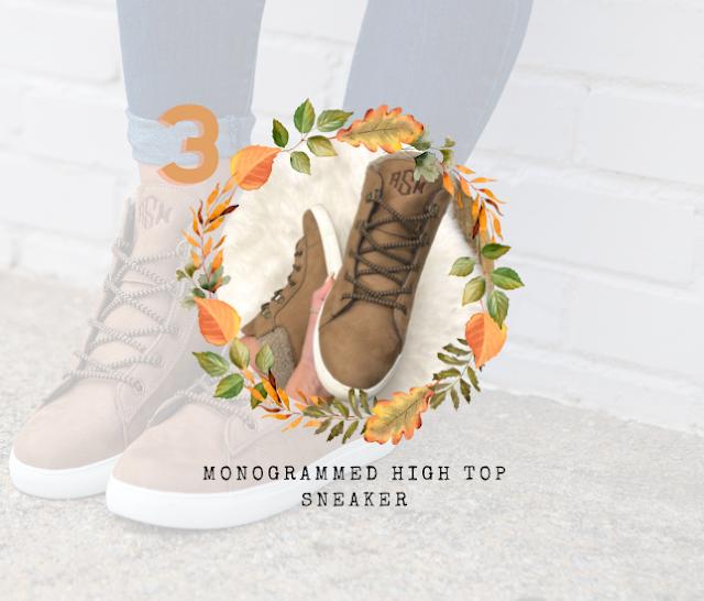 Monogrammed High Top Sneakers