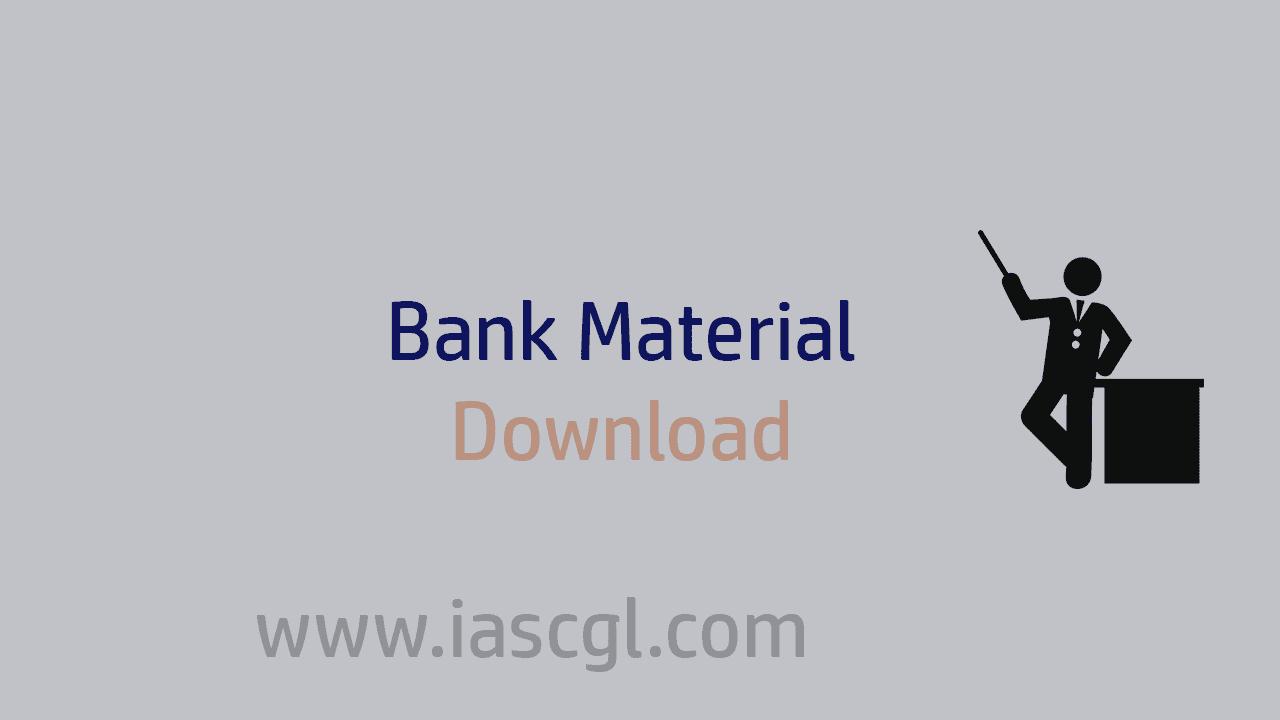 Bank Material