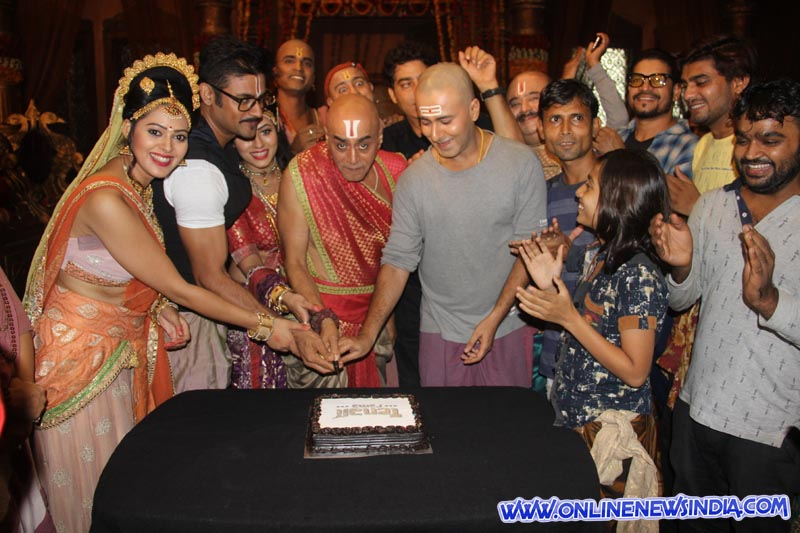 Cast and crew celebrate on the sets
