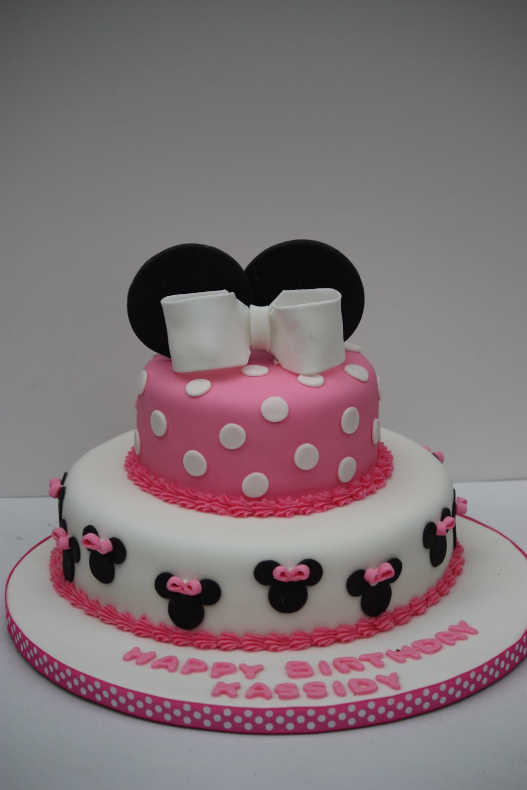 Whimsical By Design Minnie Mouse Birthday Cake