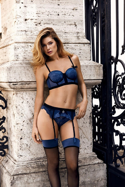 Doutzen Kroes strips to lingerie for Hunkemoller