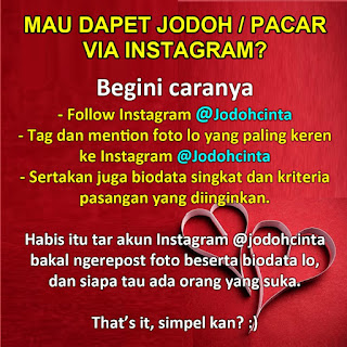 cari jodoh pacar instagram
