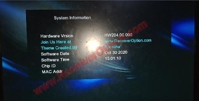 GX6605S HW204.00.000 VERSION NEW SOFTWARE 30 OCTOBER 2020