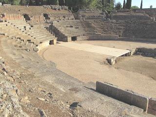 Anfiteatro de Mérida; anfiteatro romano; Mérida; Badajoz; Extremadura; Vía de la Plata