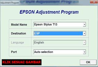 Resetter Printer Epson T13 Windows 7