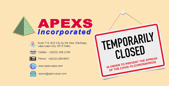 APEXS Temporary Work Suspension for COVID19 health advisory