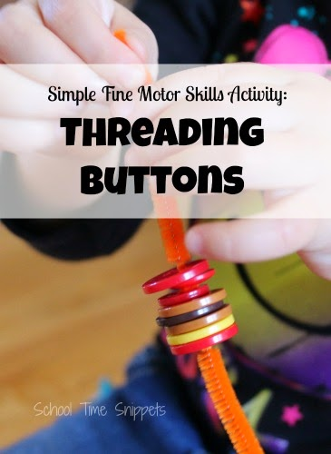 Threading Buttons fine motor skills