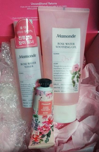 althea, althea korea, mamonde, review althea, rose water, soothing gel, hand cream