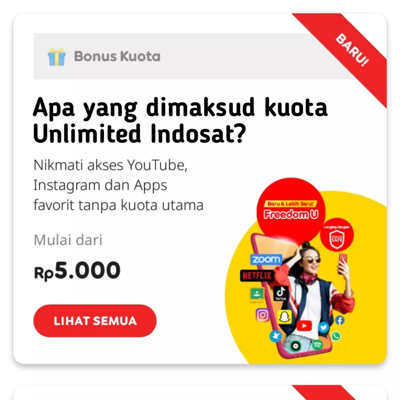 Apa yang dimaksud Kuota Unlimited Indosat