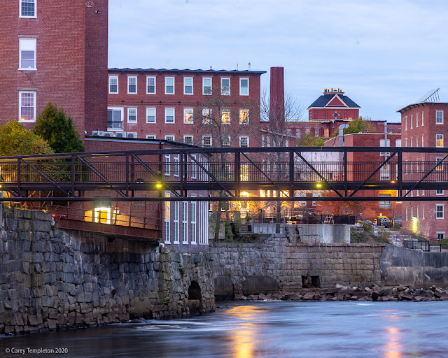 Biddeford Maine November 2020 photo by Corey Templeton. Old mills of Biddeford.