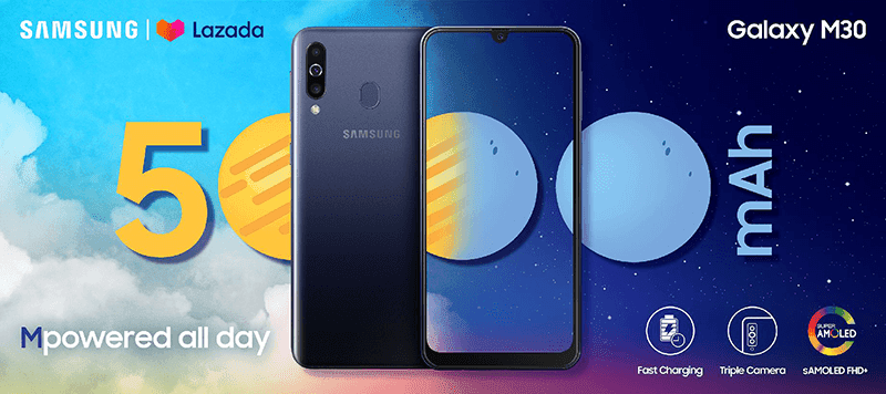 Samsung Galaxy M30 arrives at Lazada Philippines