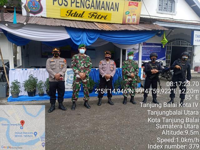 Menjelang Hari Raya, Personil Jajaran Kodim 0208/Asahan Sibuk Laksanakan Pos PAM